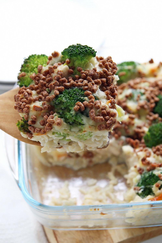 Chicken Rice Casserole Slice