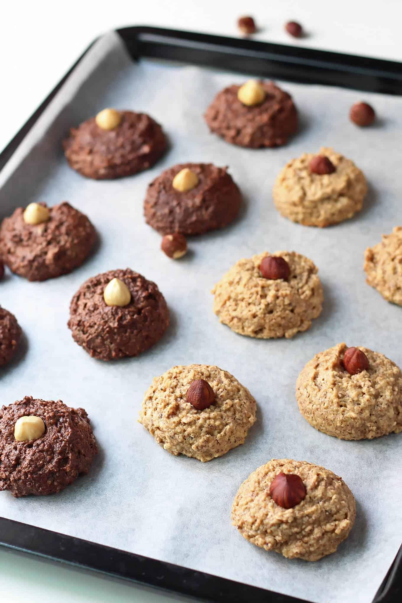 Hazelnut Macaroons on Baking Sheet