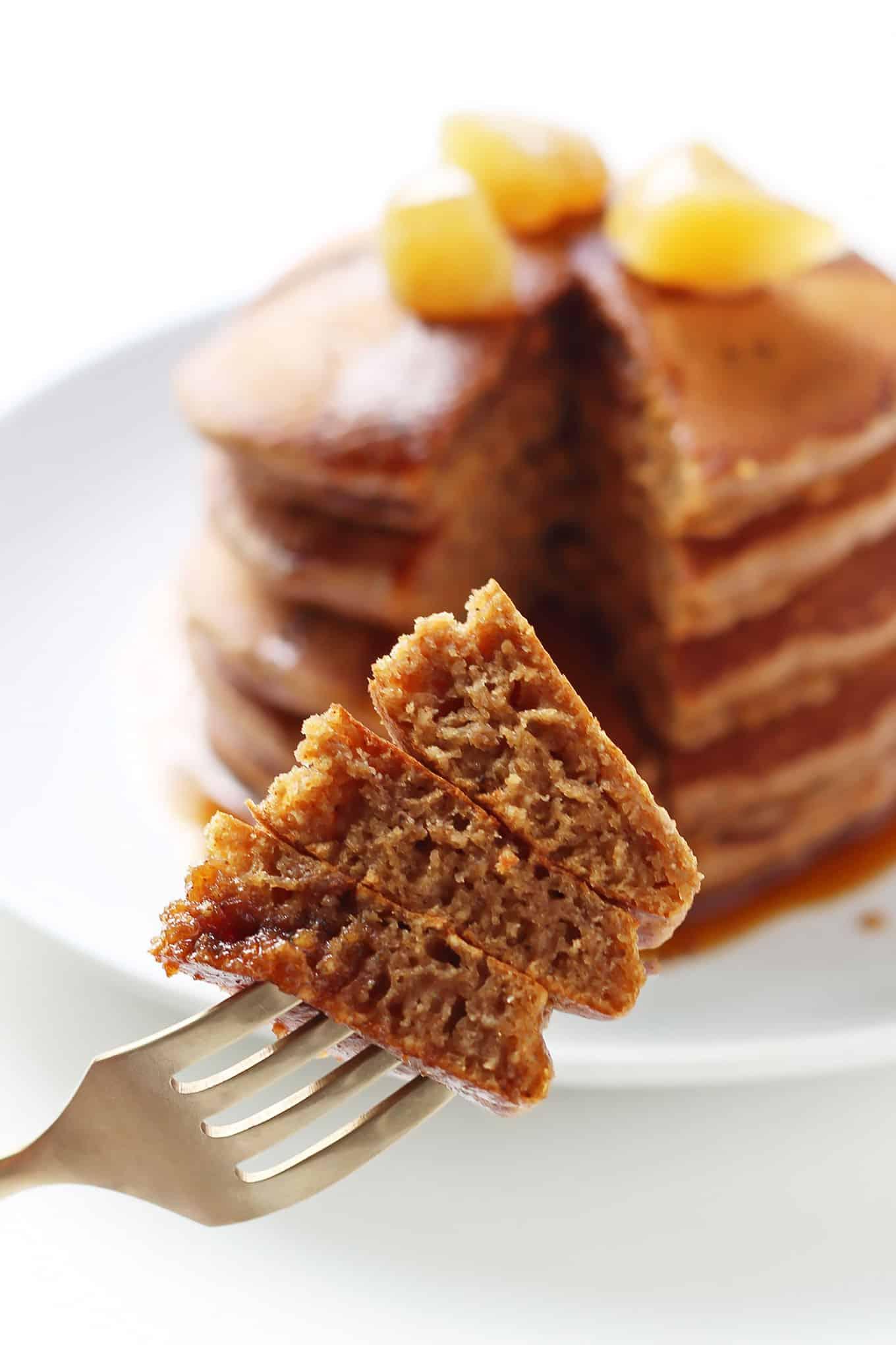 Forkful of Gingerbread Pancakes