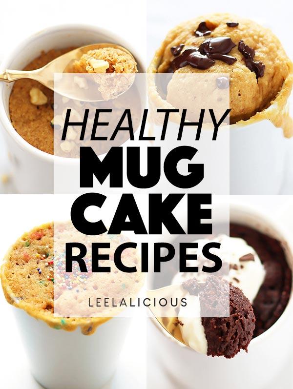 Four Healthy Mug Cake Recipes