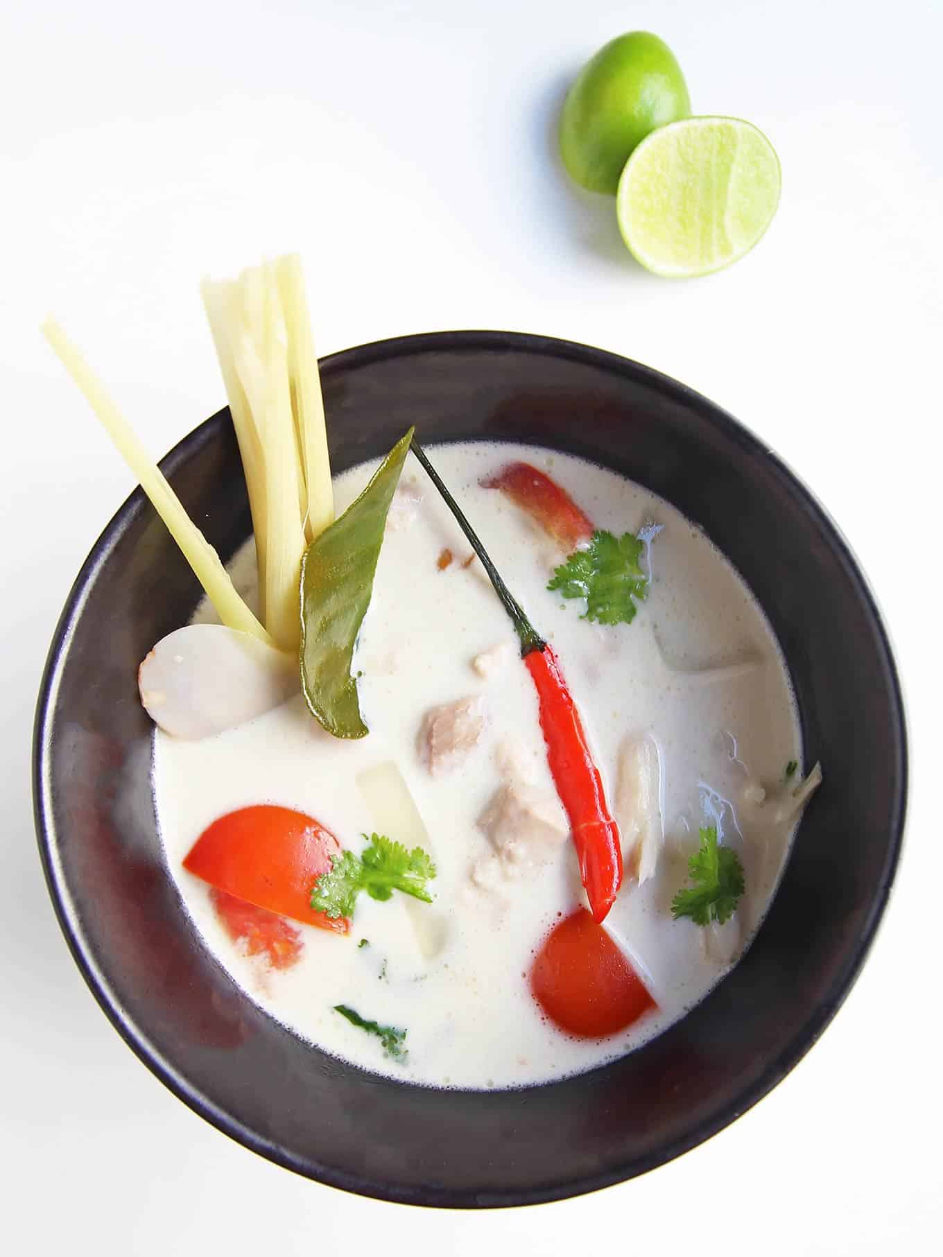 Thai Coconut Chicken Soup (Tom Kha Gai) With Mushrooms Recipe ...