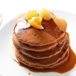 Fluffy Whole Wheat Gingerbread Pancakes