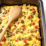 Breakfast Casserole with Eggs, Potatoes and Sausage – VIDEO