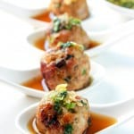 flavored with lemongrass, ginger and garlic. As an appetizer these meatballs are amazing with the intensely flavorful dipping sauce, but they also make a great main course.