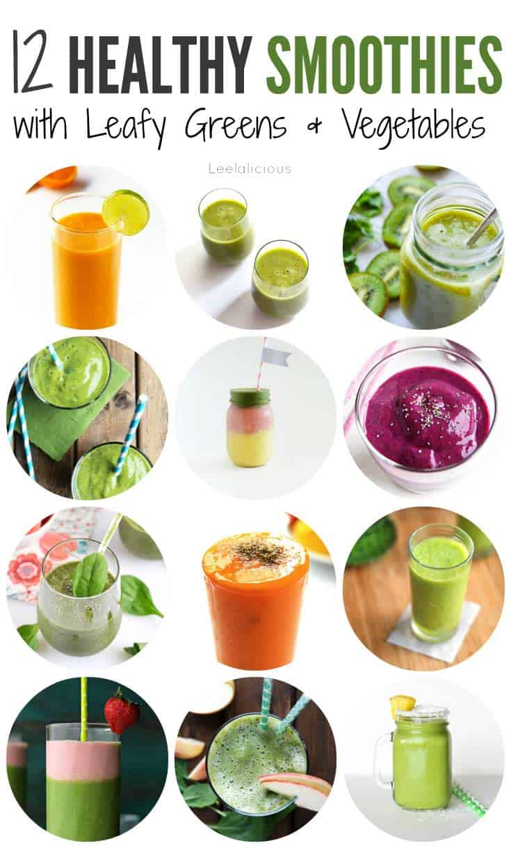 12 Healthy Smoothie Recipes With Leafy Greens Or Vegetables inside Healthy Smoothie Recipes