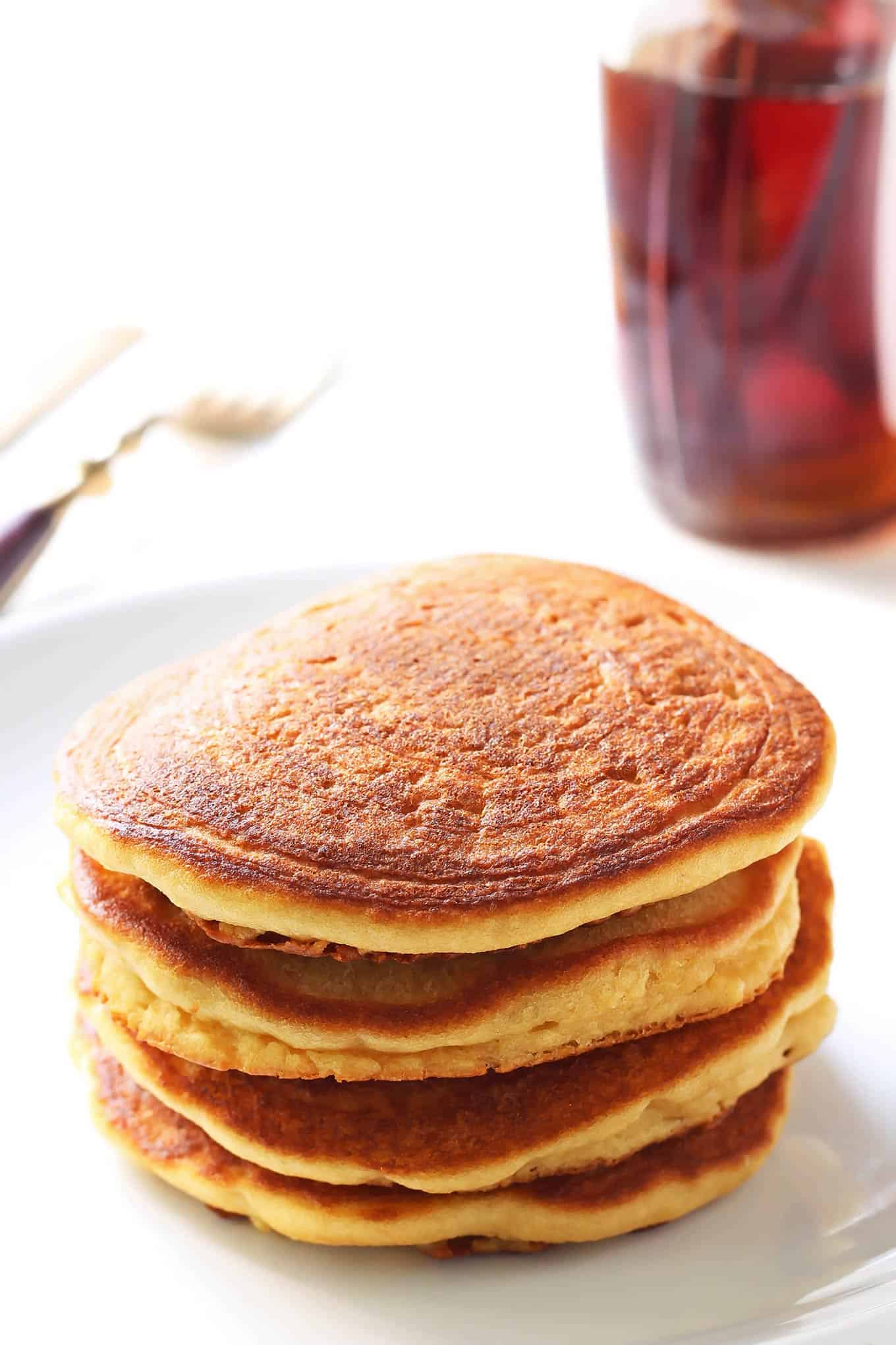 Stack of Coconut Flour Pancakes