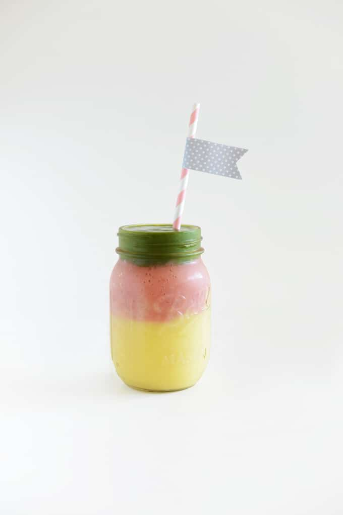 Layered Mango Stoplight Smoothie
