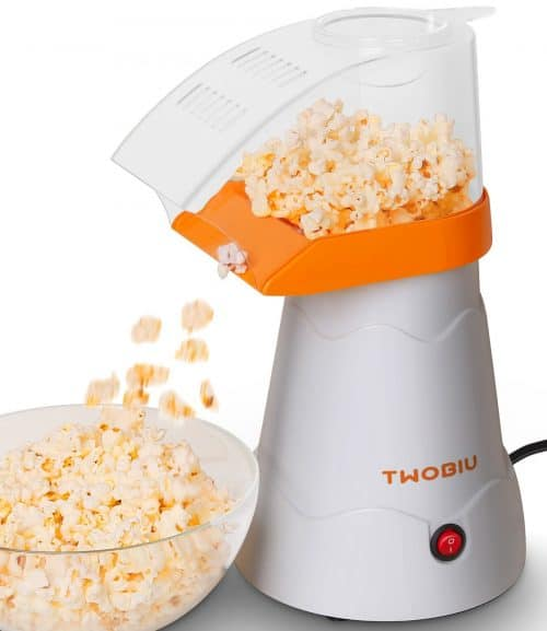 TWOBIU Hot Air Popcorn Popper