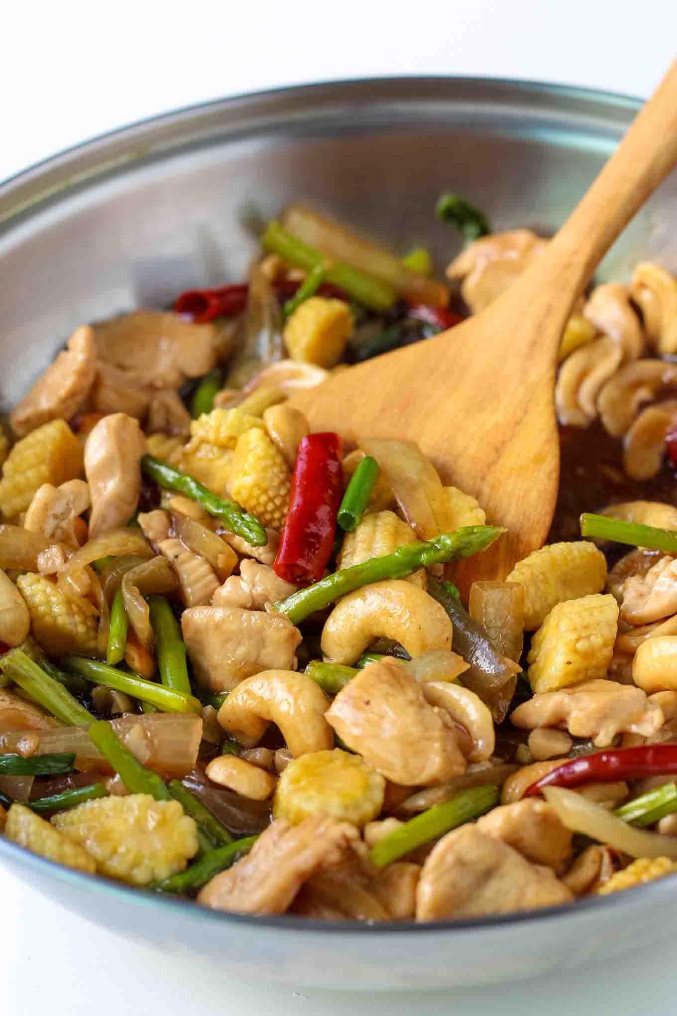 Chicken Stir Fry with Cashews
