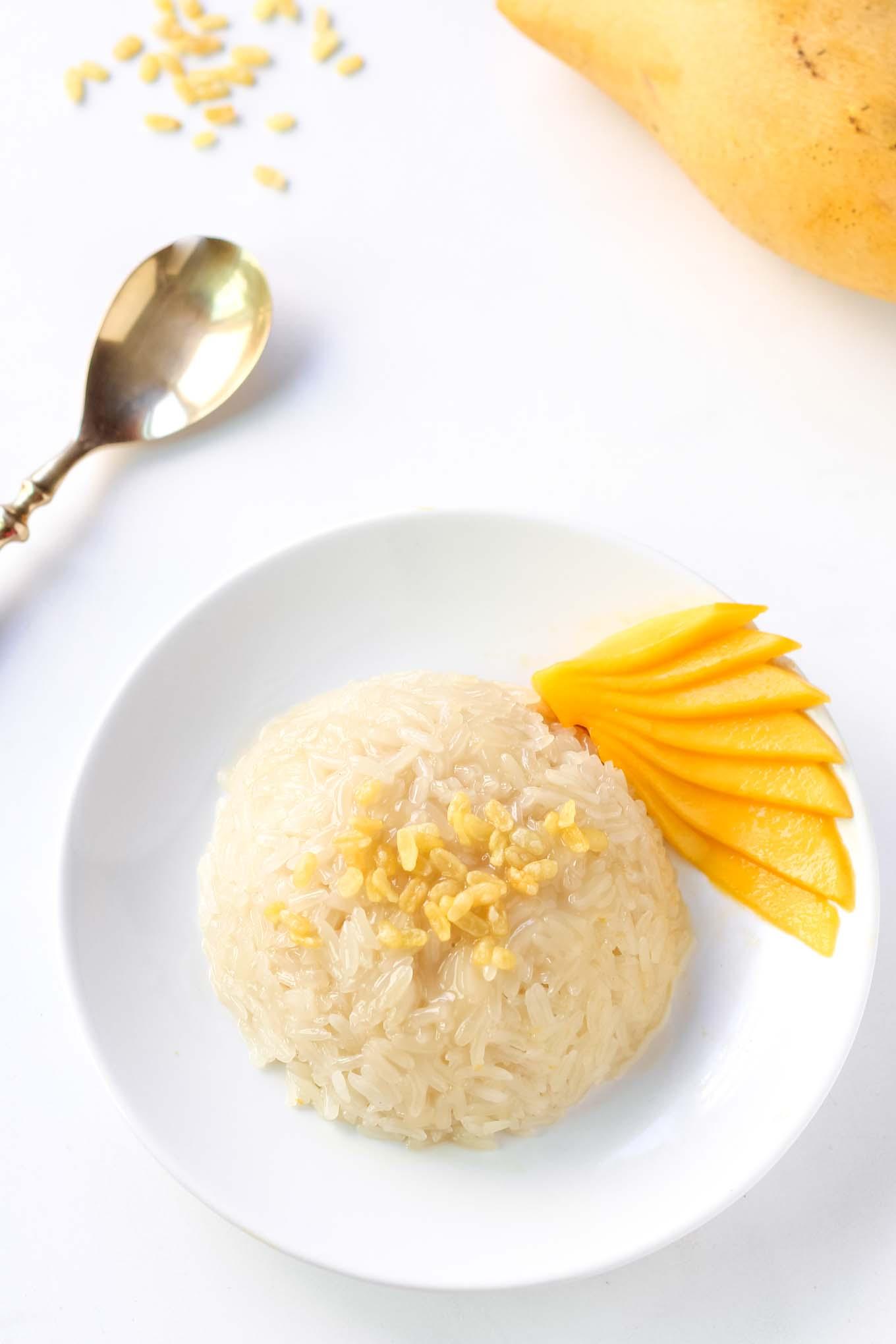 Plated Mango Sticky Rice