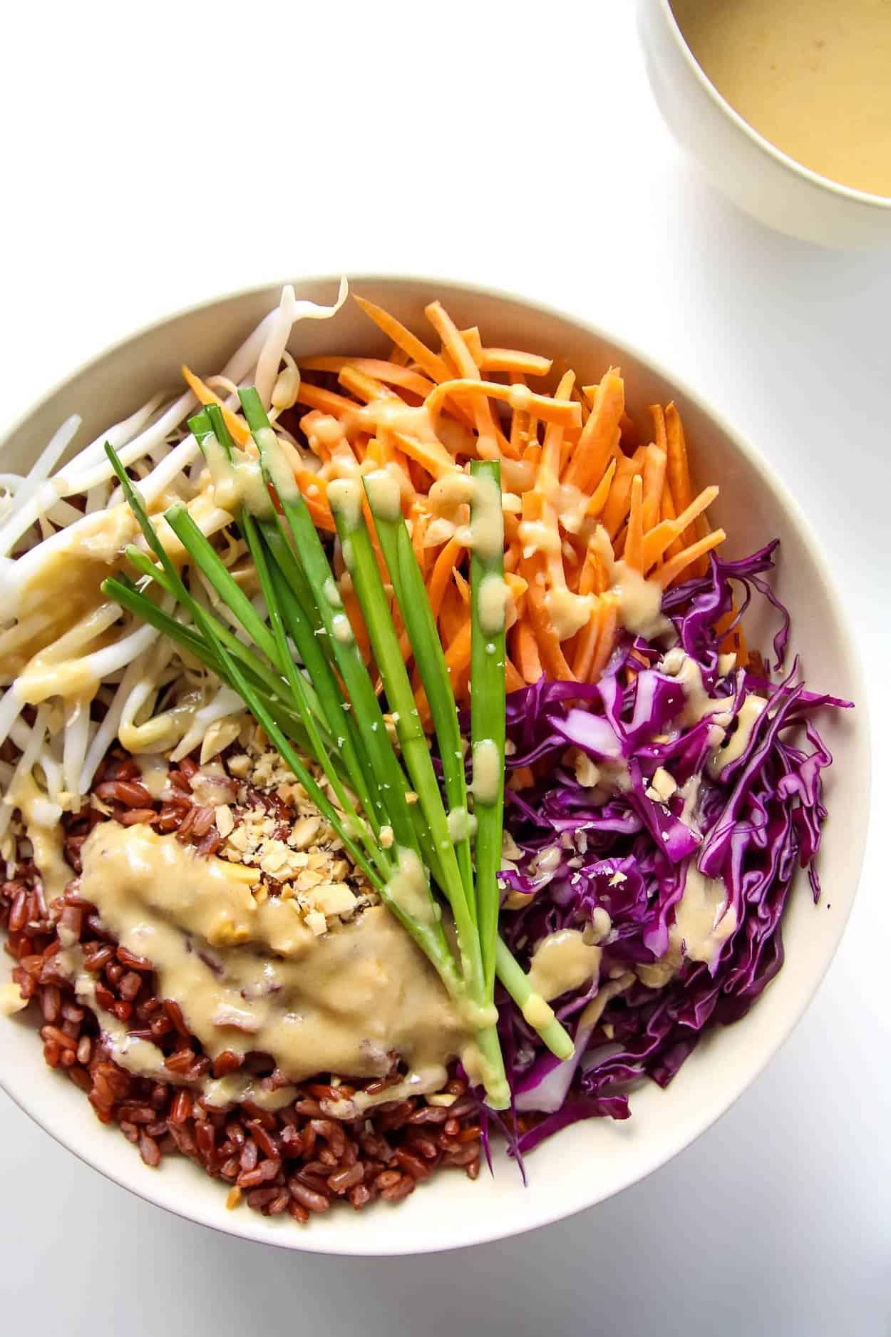 Vegetable Buddha Bowl with Peanut Sauce