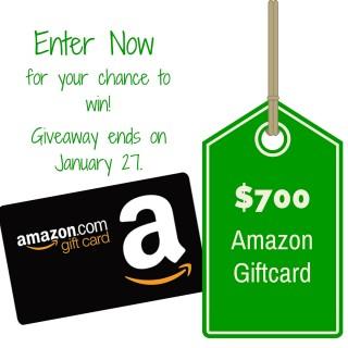 $700 Amazon Giftcard Giveaway