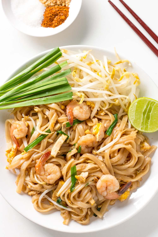 Plate of Shrimp Pad Thai