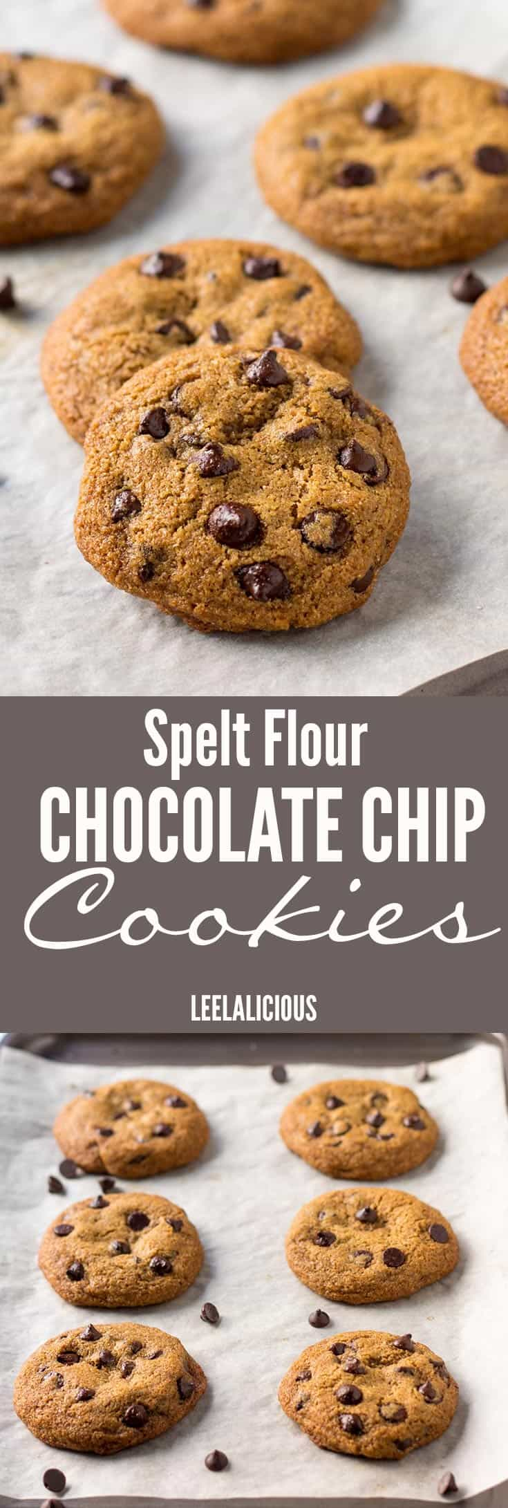 Clean Eating Spelt Chocolate Chip Cookies – LeelaLicious