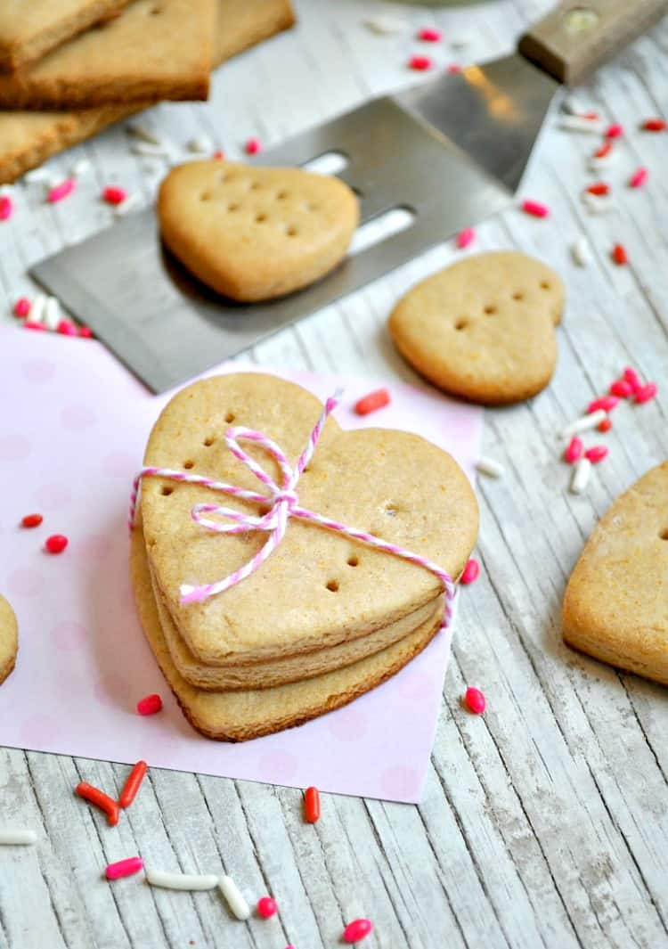 Heart-shaped Graham Crackers
