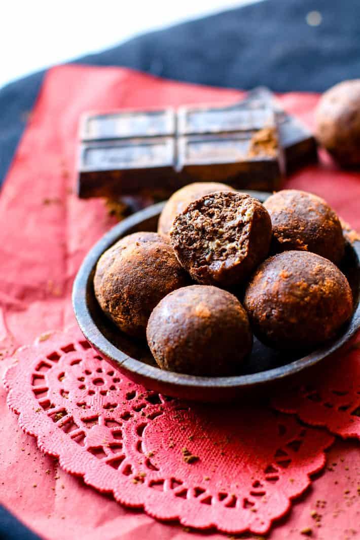 Chocolate Fudge Red Velvet Bites