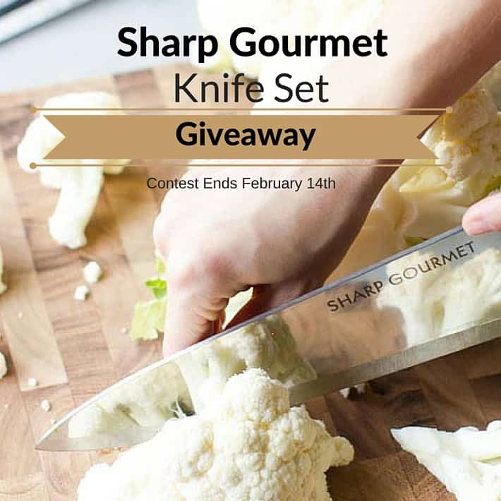 Sharp Gourmet Giveaway - Win 1 of 5 subscriptions to always sharp knives!