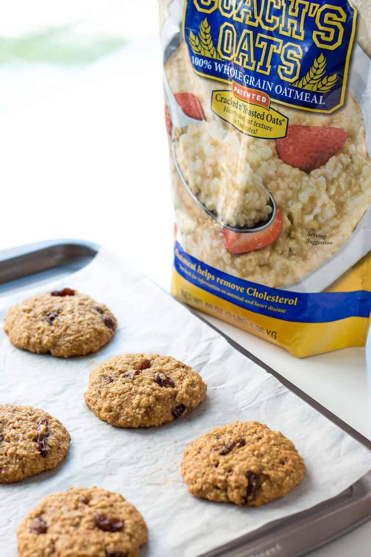 Oatmeal Cookies on Baking Sheet