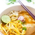 Easy Khao Soi – Thai Coconut Curry Soup with Egg Noodles