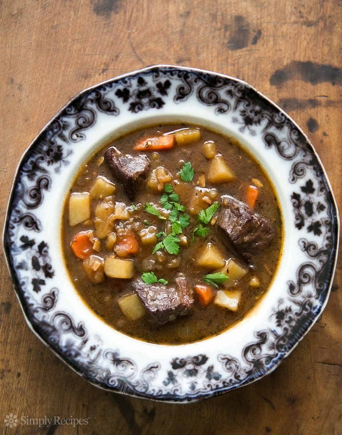 Irish Beef Stew in Bowl