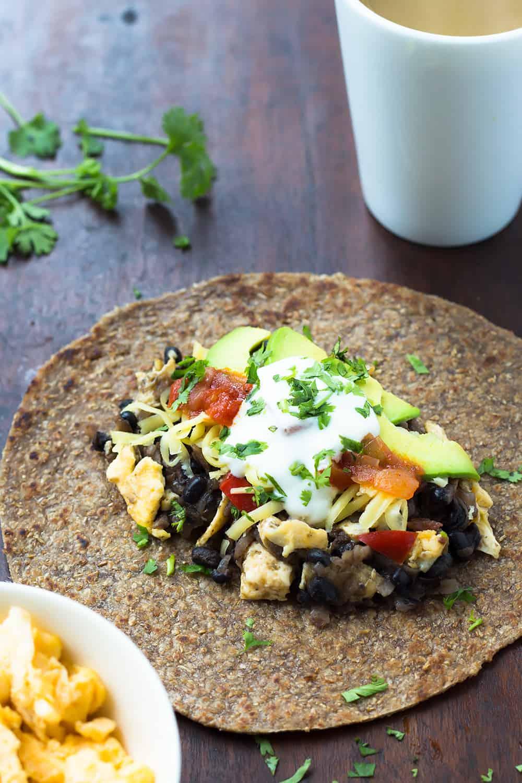 Black Bean Breakfast Burrito - Nourish Cookbook Review ...