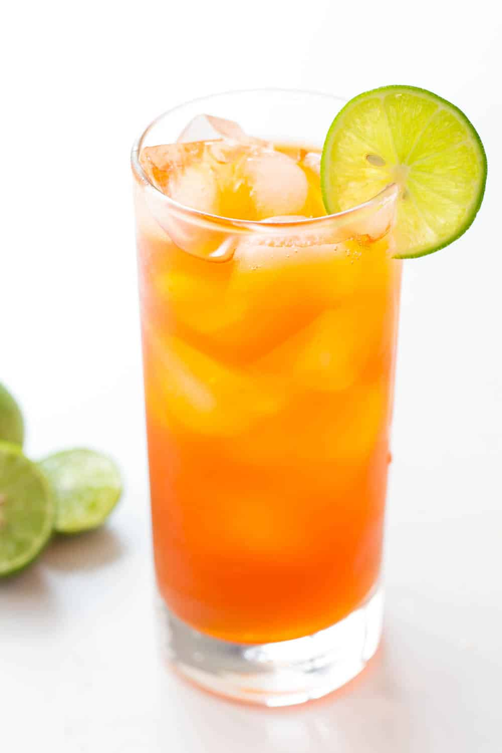 This refreshing Thai Lemon Iced Tea is naturally sweetened with honey. It is perfect to serve on hot summer days or with homemade Thai food.