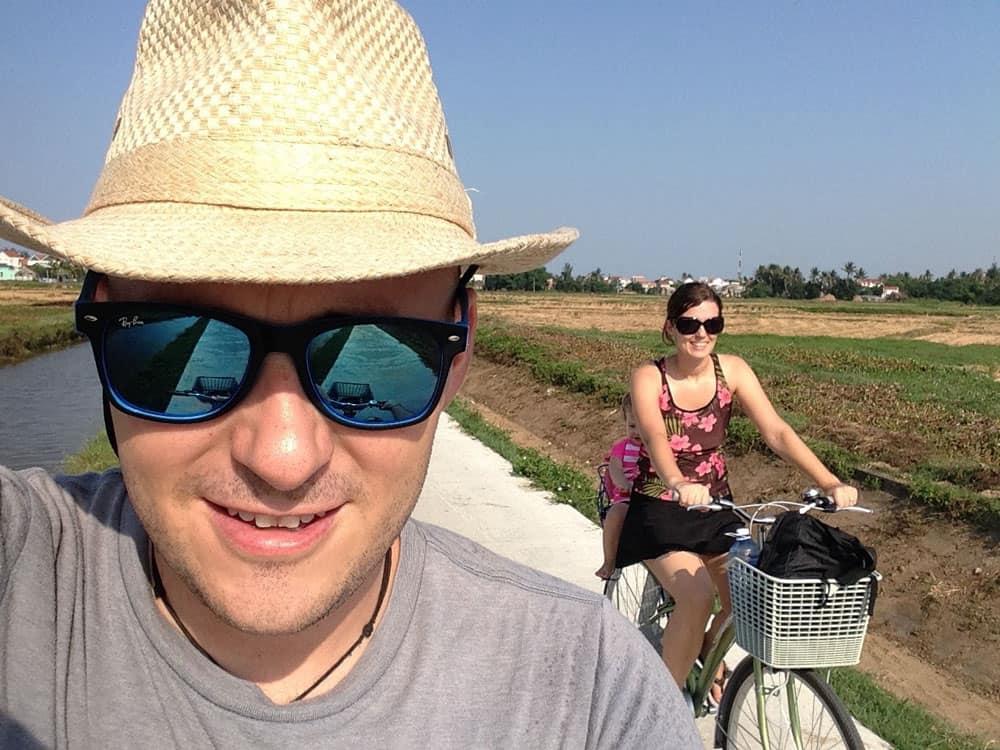 Family Bike Ride in Vietnam