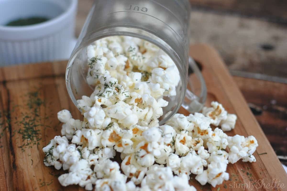 Garlic And Dill Popcorn Recipe