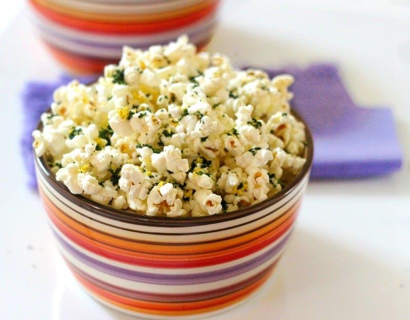 Lemony Kale Healthy Popcorn Recipe
