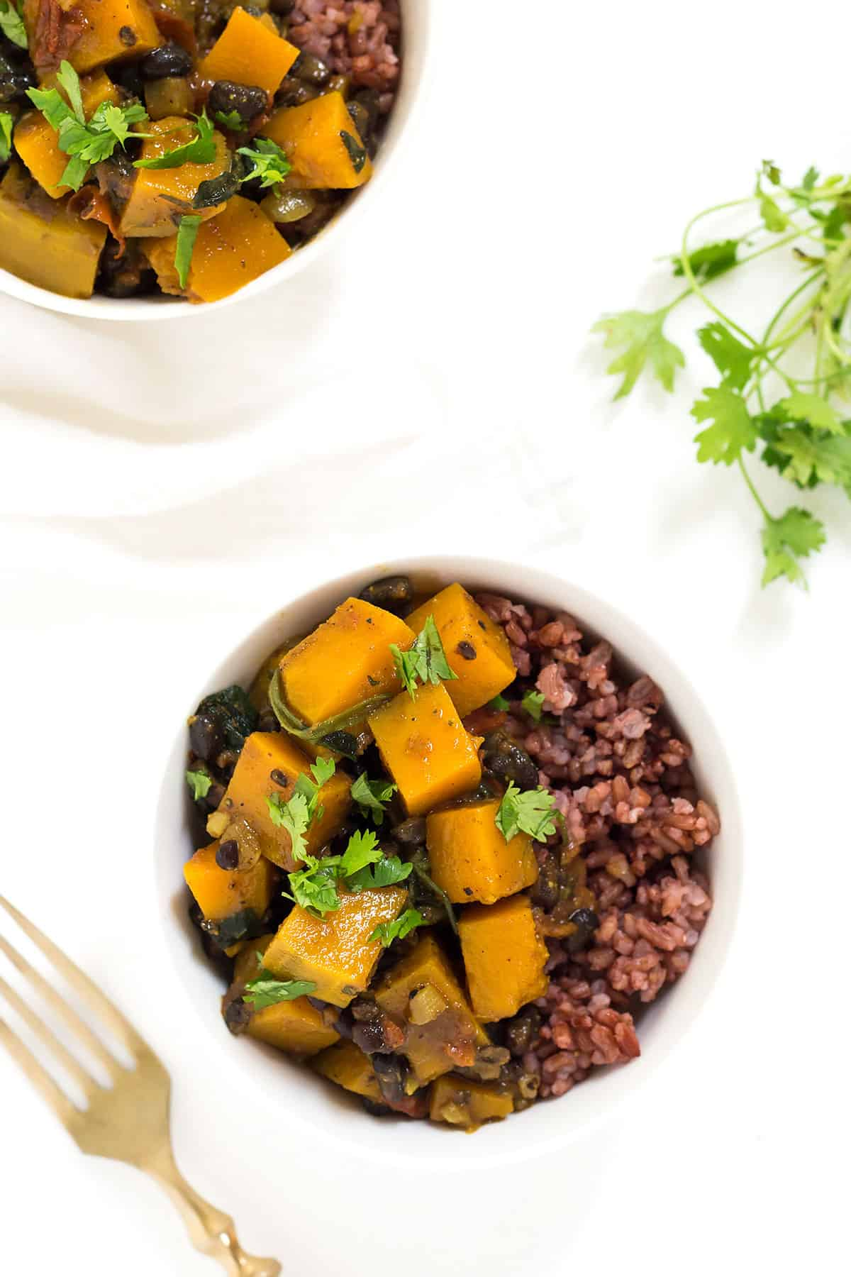Butternut Squash Curry in Bowls