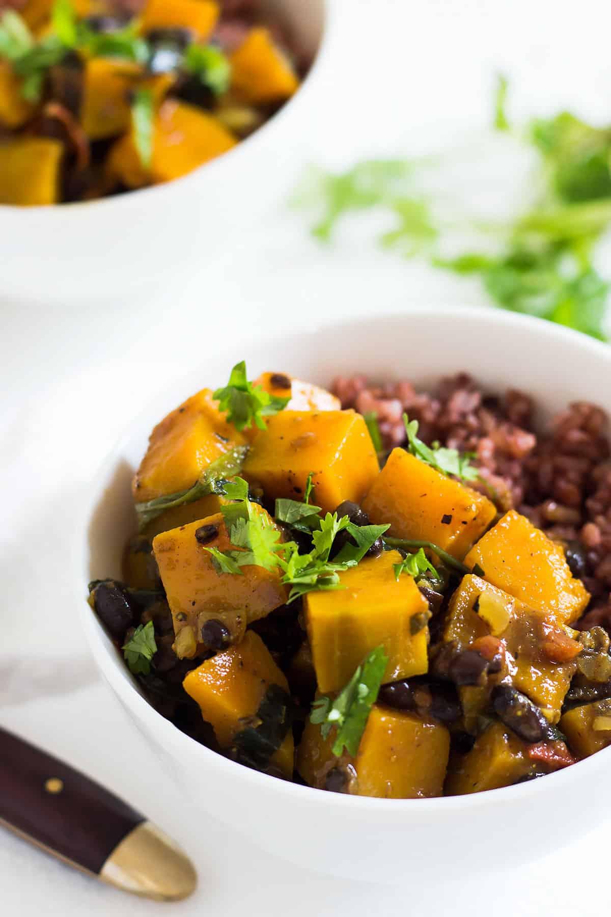 Butternut Squash Black Bean Curry