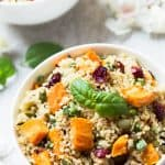 Sweet Potato Cranberry Quinoa Salad – Rush Hour Meals Cookbook Review