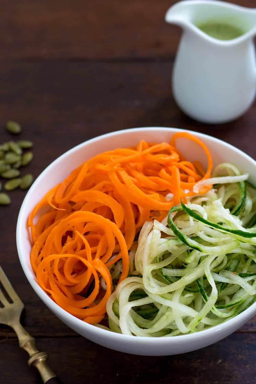 Carrot Cucumber Noodle Salad