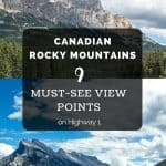 Must See Views Canadian Rockies