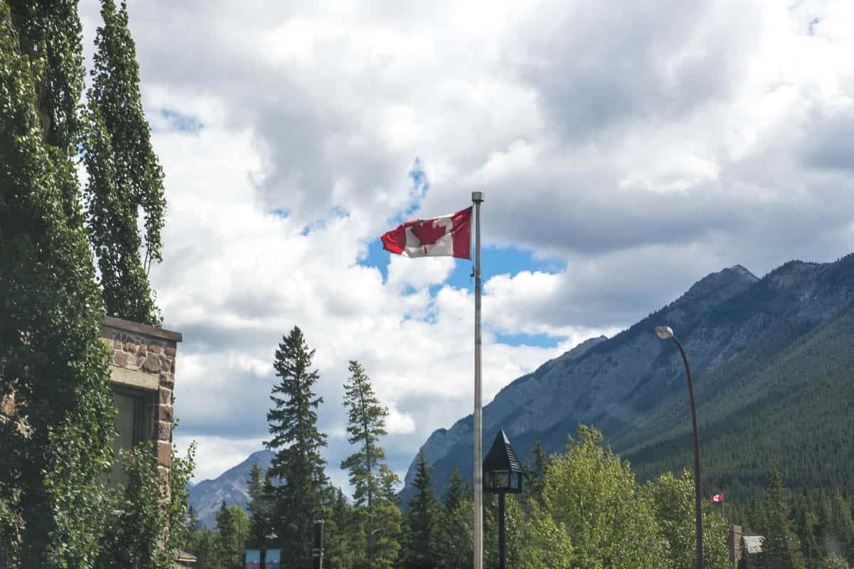 Canadian Flag in Banff