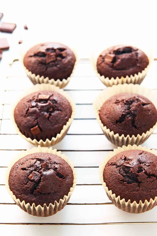 Chocolate Chunk Coconut Flour Muffins