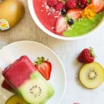 Strawberry Kiwi Smoothie Two Ways