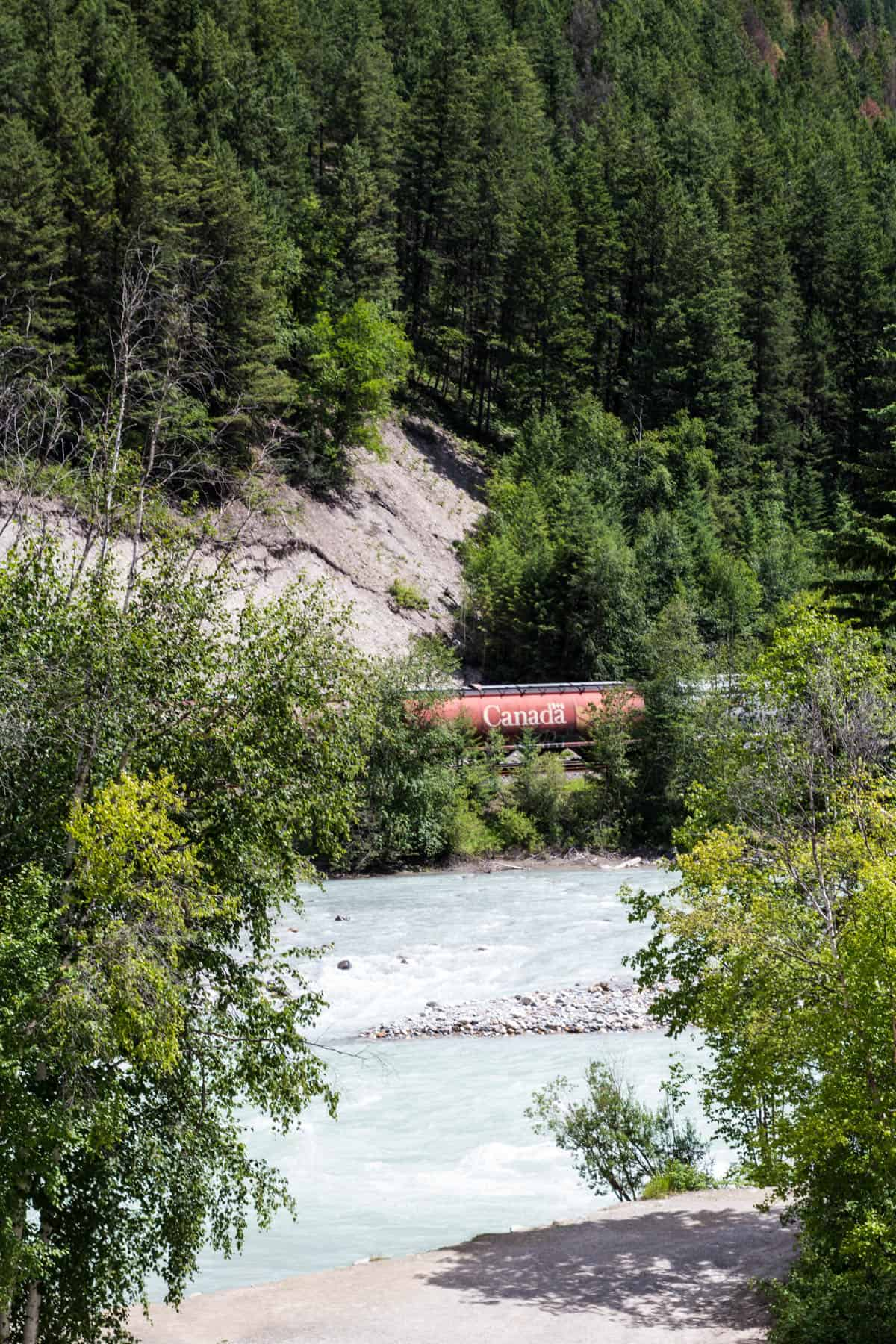 Train in the Rocky Mountains