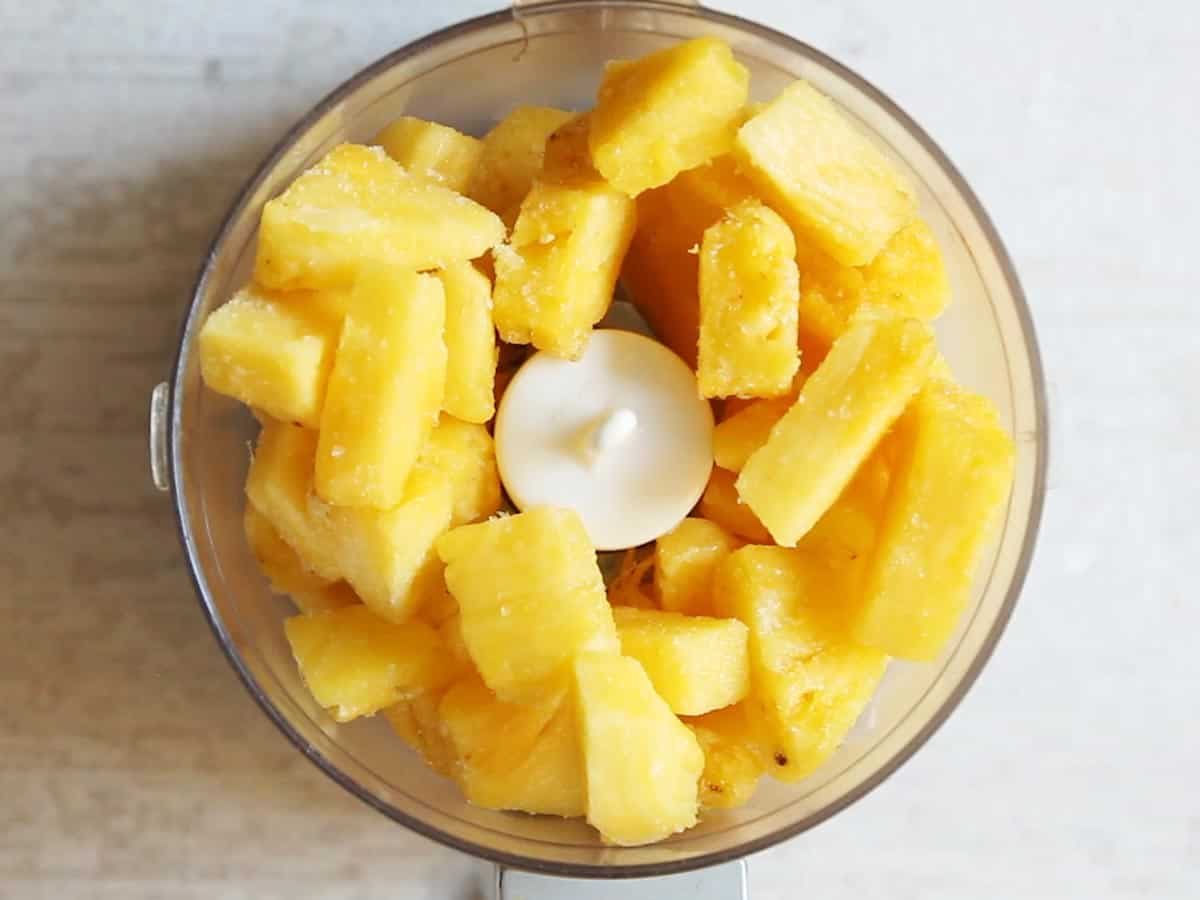 Pineapple in Food Processor