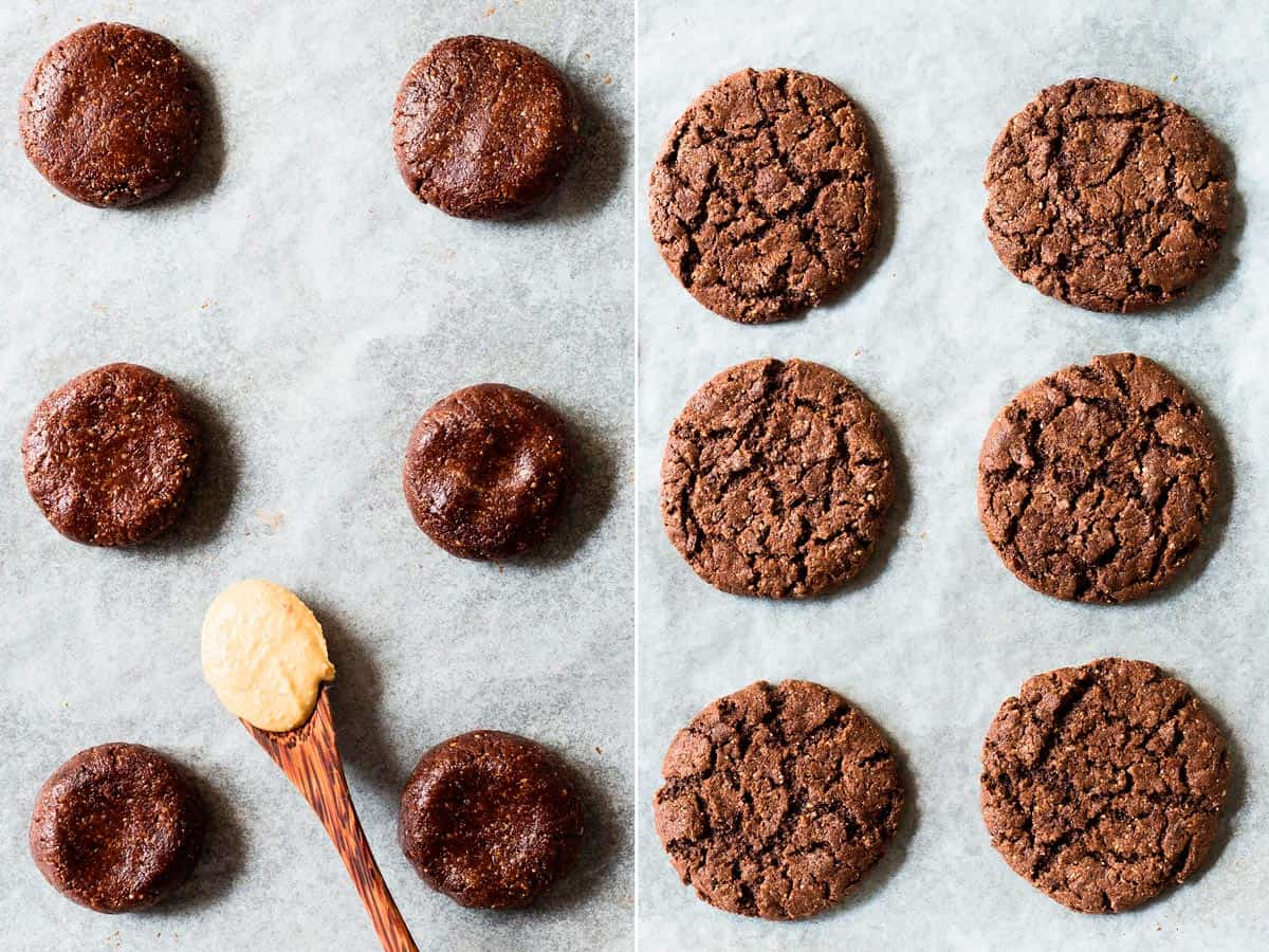 Vegan and flourless Chocolate Cashew Cookies
