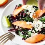 Sautéed Beet Greens with Nectarines + Feta
