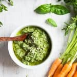 Carrot Top Pesto with Pumpkin Seeds