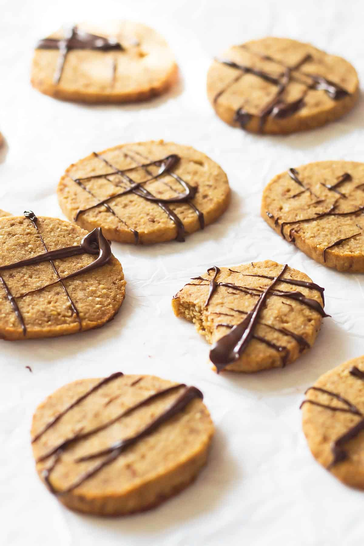 Dark Chocolate Coconut Shortbread Cookies Recipe — Dishmaps