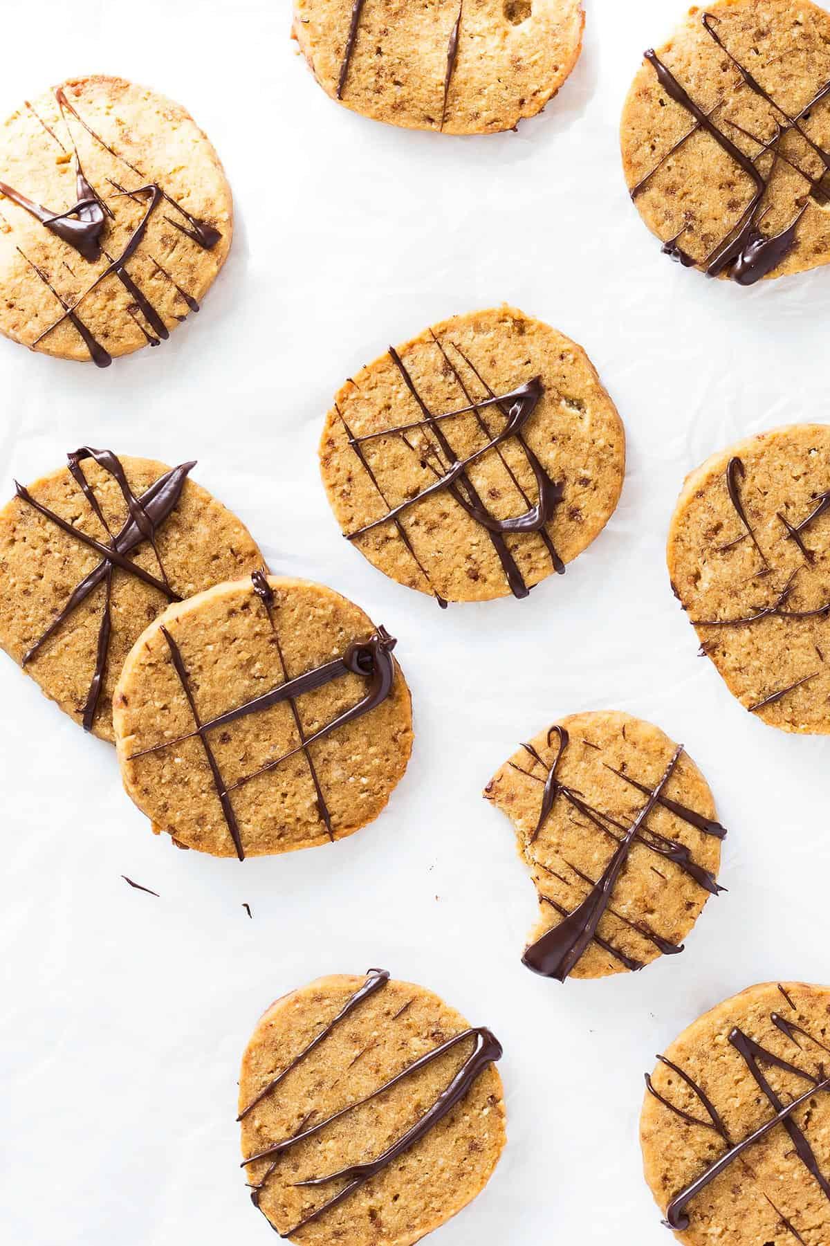 Chocolate-glazed Shortbread Cookies