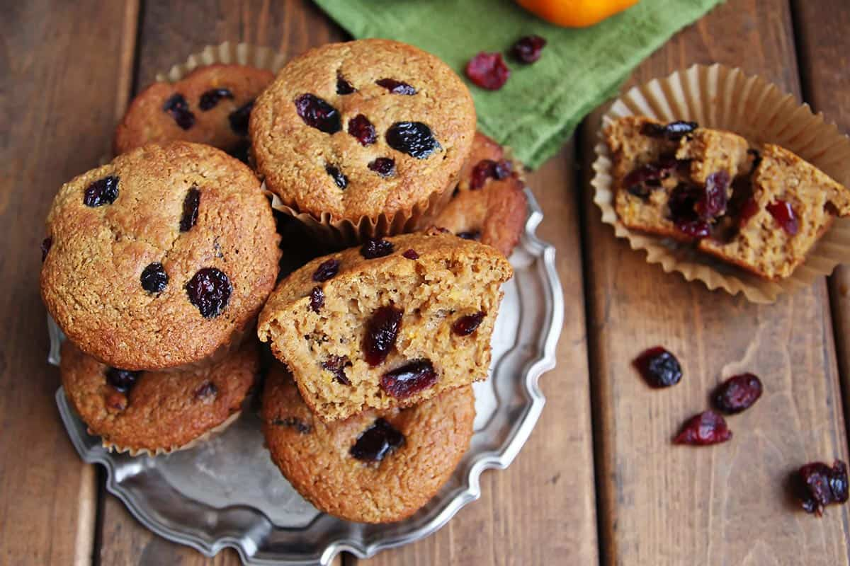 Cranberry Orange Muffins Without Flour