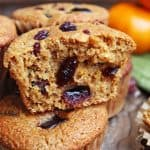 Coconut Flour Orange Cranberry Muffin Recipe