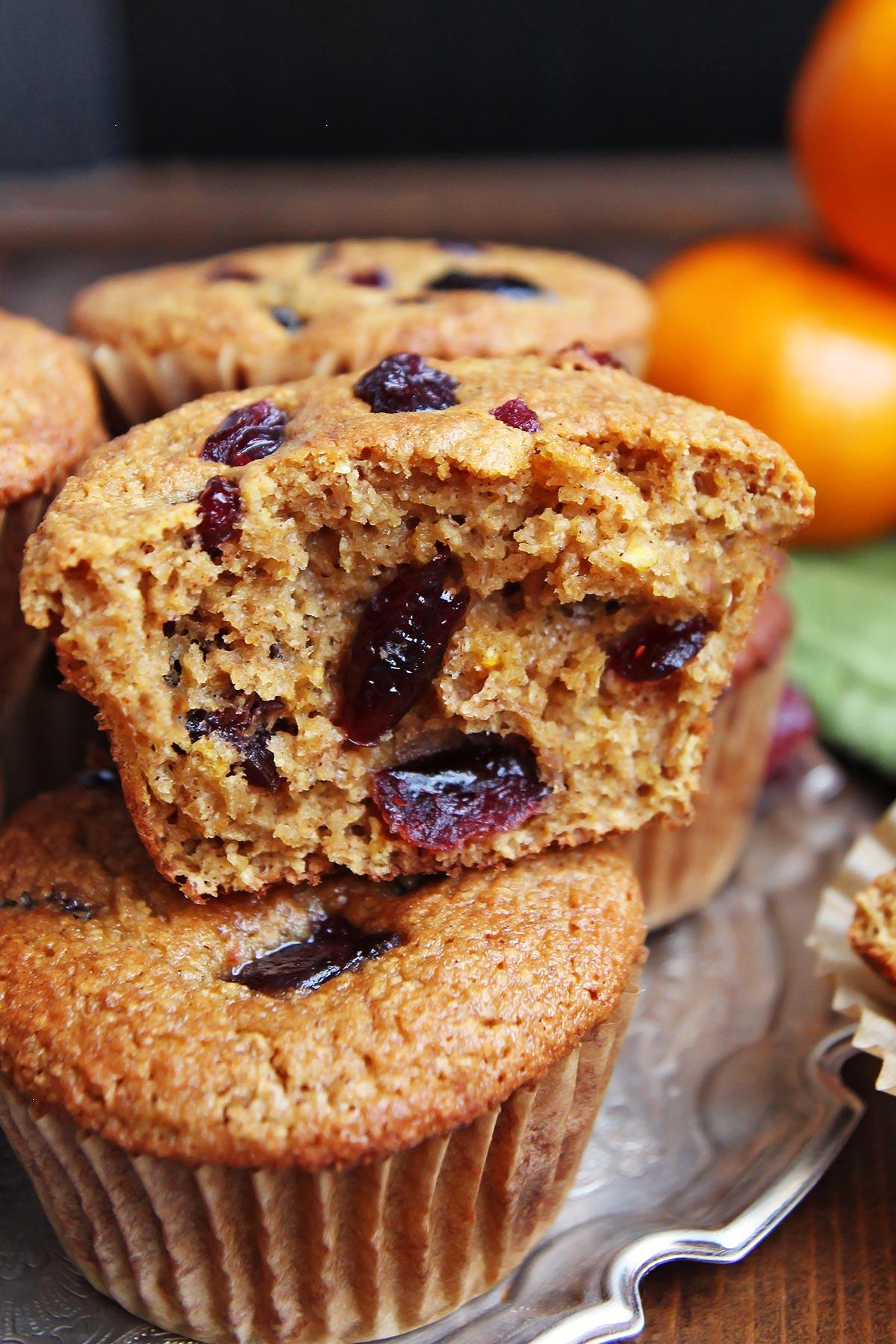 Coconut Flour Orange Cranberry Muffins
