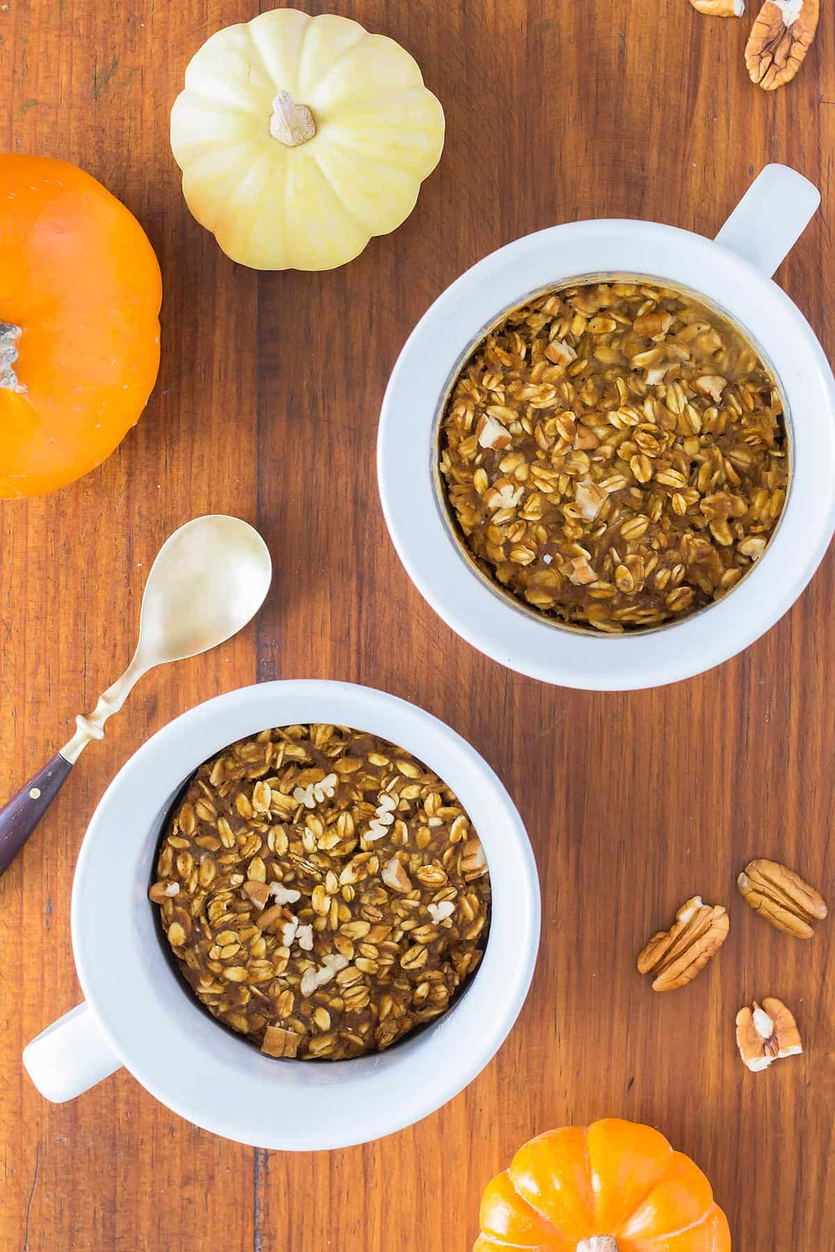 Pumpkin Baked Oatmeal For One