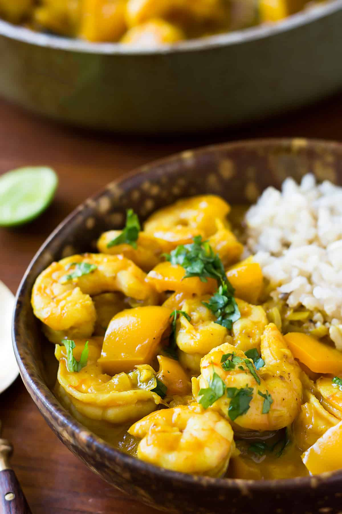 Coconut Curry Shrimp with Rice