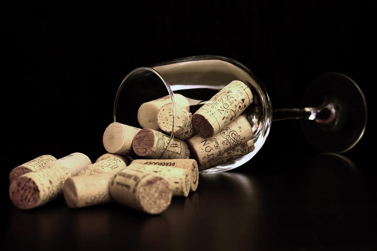 Corks in a Wine Glass